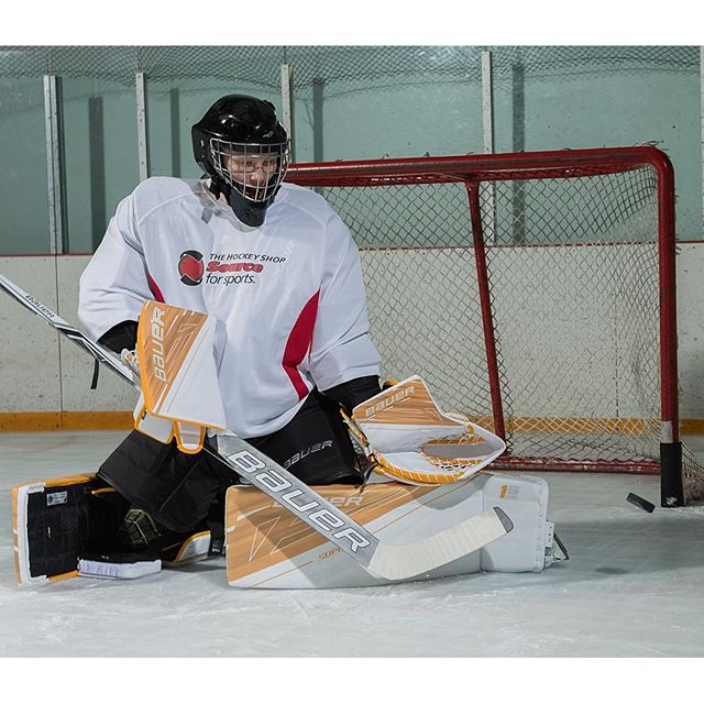 Another shot of the new @bauerhockey Supreme 1S OD1N pads. See more at goal.thehockeyshop.com - with @thsgoal @instaprawns and @stoney_bb @mgdgoaltending
