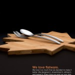 Flatware product photograph and advertising design